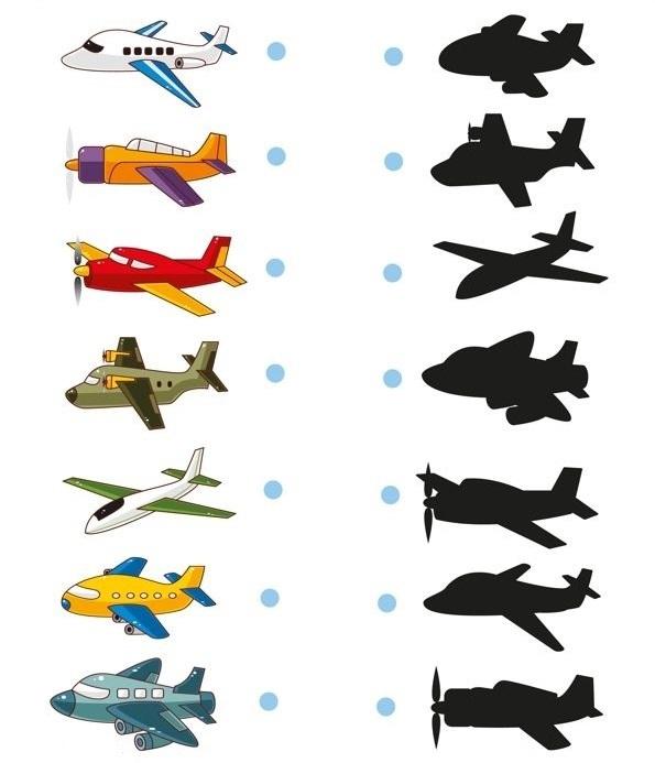 matching-plane-shadow-worksheet