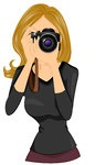 226158-Royalty-Free-RF-Clipart-Illustration-Of-A-Beautiful-Woman-Taking-Photographs